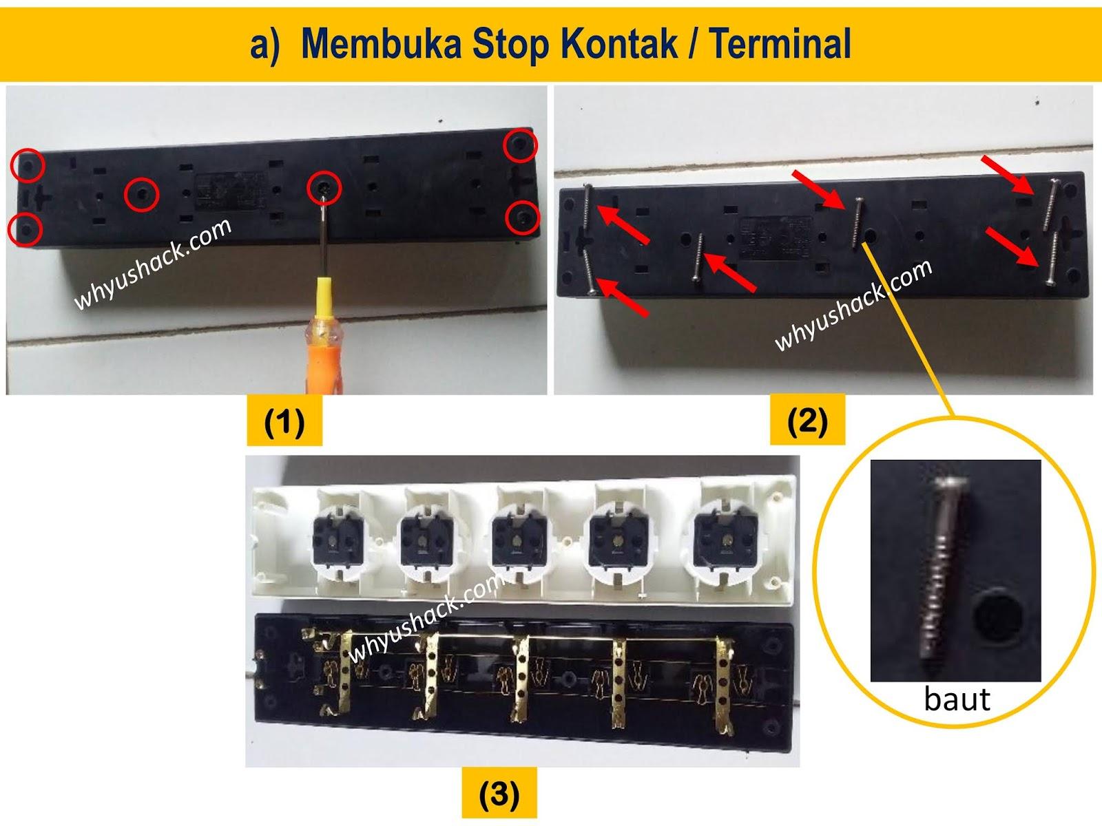 Cara Mudah Merakit Stop Kontak Terminal 1