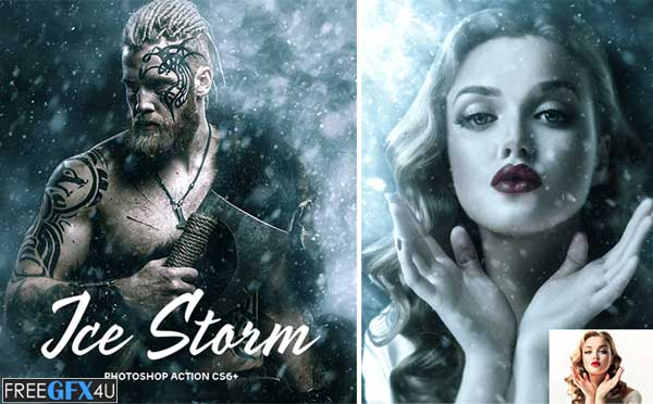 Ice Storm Action for Photoshop CS6+