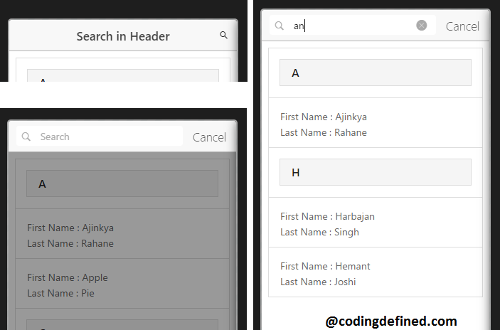 Adding Search Bar in the Header of Ionic App - Coding Defined