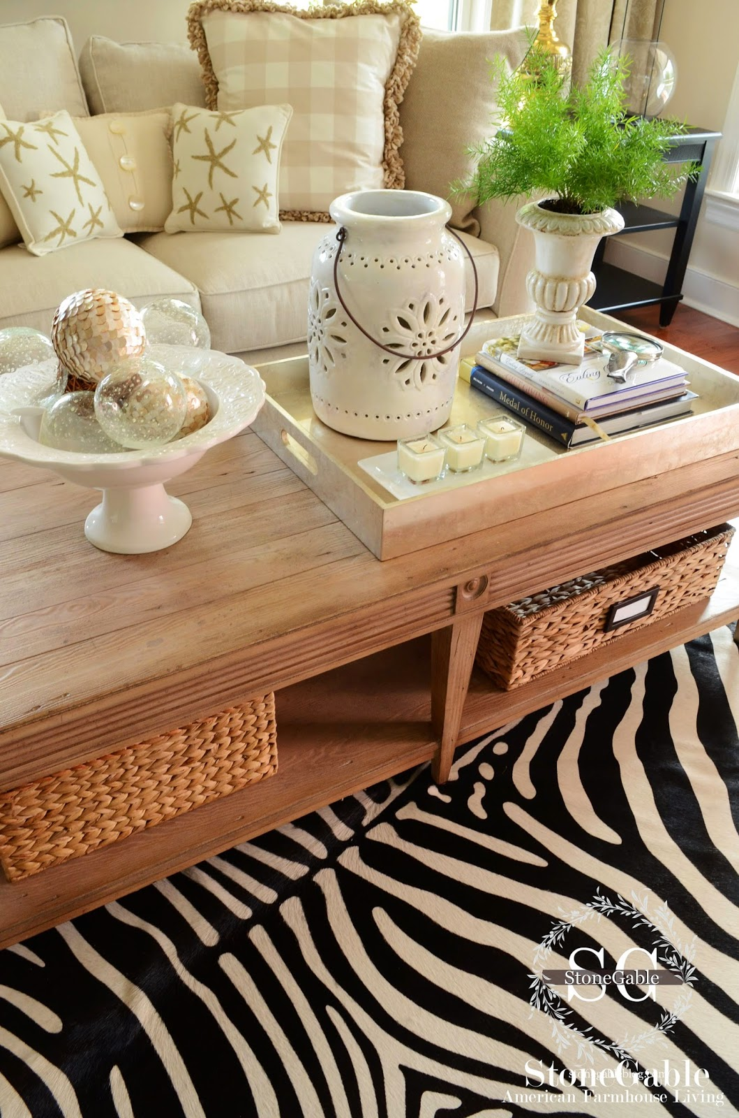 5 tips to style a coffee table like a pro stonegable 5 tips to style a coffee table like a pro geotapseo Gallery