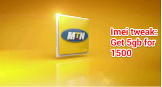 Mtn imei tweak 5gb for 1500