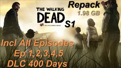 Free Download Game The Walking Dead: Season One Episodes 1-5 Pc Full Version – Repack Version – Incl All Episodes – Ep 1,2,3,4,5 – DLC 400 Days – Direct Link – Torrent Link – 1.98 GB – Working 100%