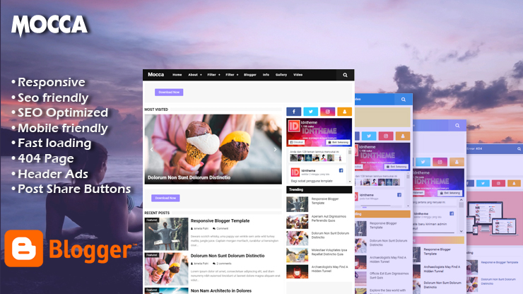 Mocca Pro Responsive Blogger Template