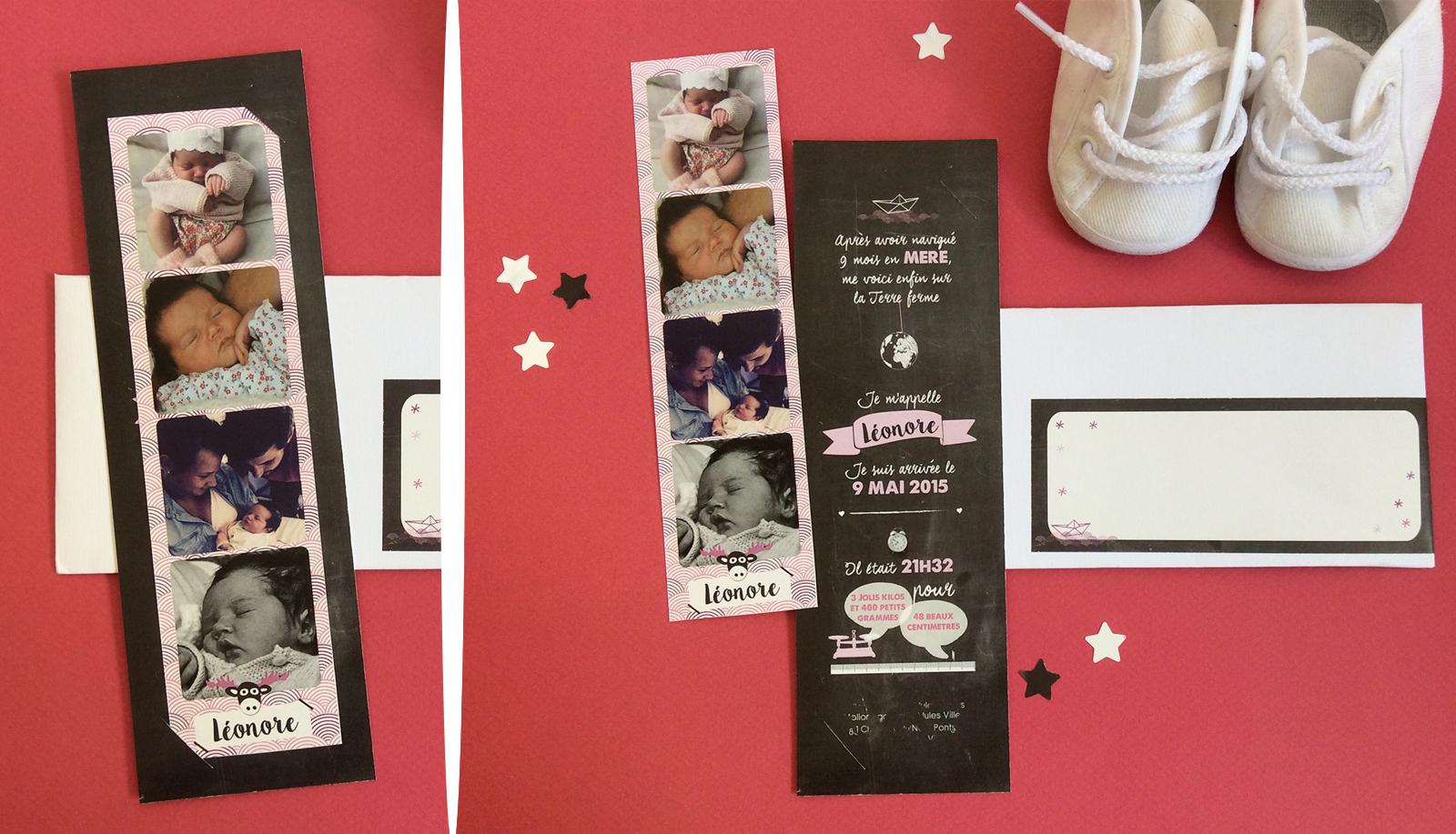arr te de r ver faire part les nouveaux faire part de naissance photomaton ins r dans un carton. Black Bedroom Furniture Sets. Home Design Ideas