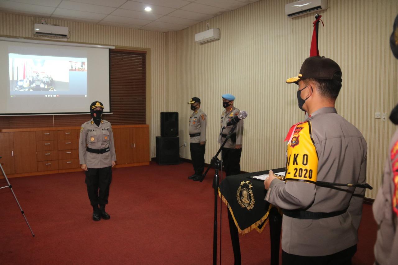 Kapolda Jambi,P elantikan Jabatan Kapolres Tebo Secara Virtual di Ruang Coffee Morning Polda Jambi