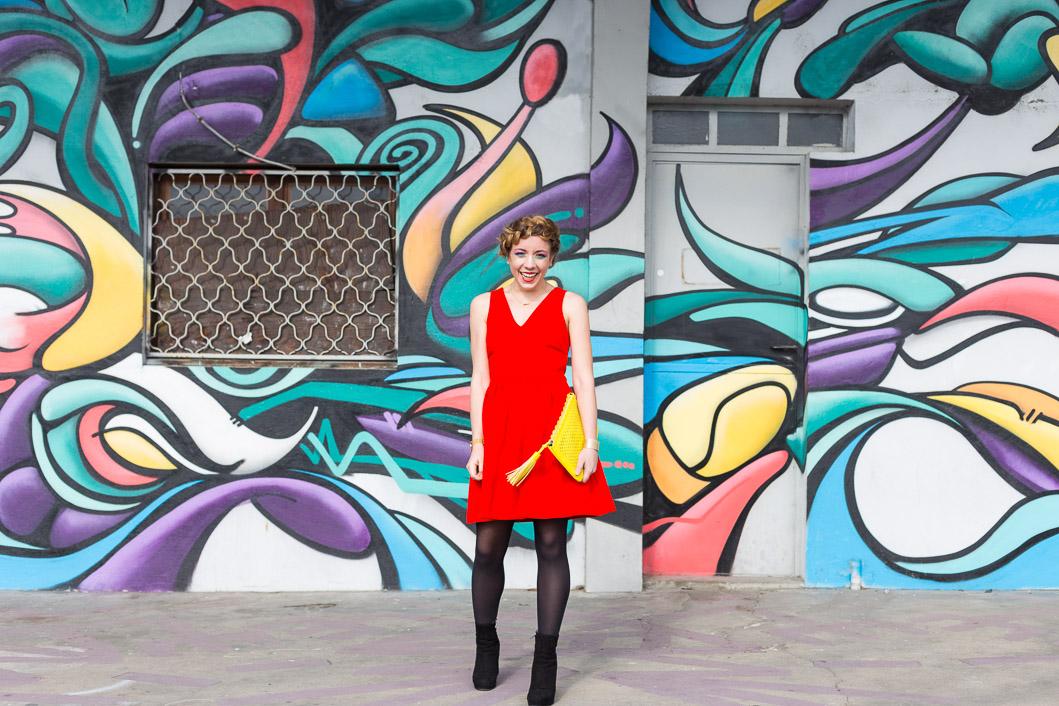 Tenue du jour robe rouge