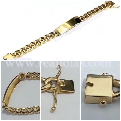 REALJOIAS.COM  Pulseira de Chapa em ouro 18k750 - Fabricado por Real ... c1baf9c6be