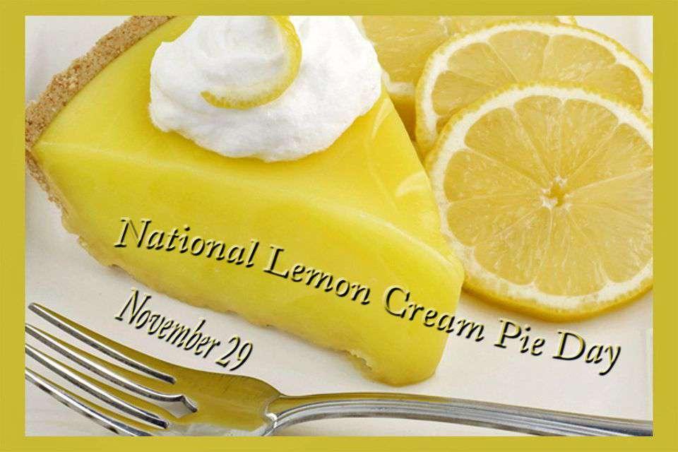 National Lemon Cream Pie Day Wishes for Instagram