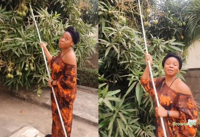 Singer Yemi Alade Shares Hilarious Video Of Herself Plucking Mangoes