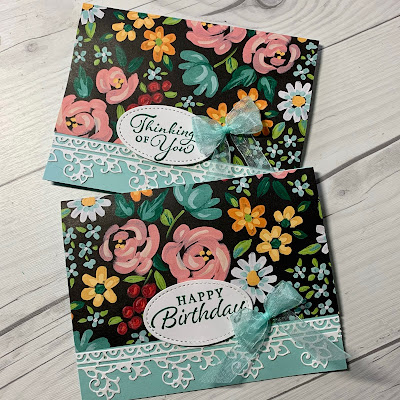 Greeting Card ideas using Stampin' Up! Happy Thoughts Stamp Set