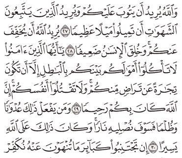 Tafsir Surat An-Nisa Ayat 26, 27, 28, 29, 30