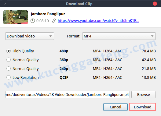 Cara Download Video Youtube Menggunakan 4K Video Downloader