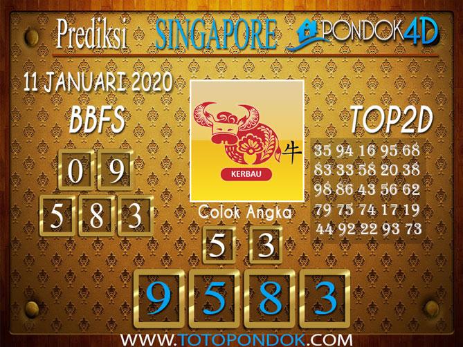 Prediksi Togel SINGAPORE PONDOK4D 11 JANUARI 2020