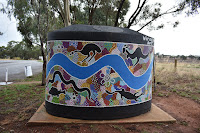 Painted Water Tanks in Yarragundry by Owen Lysons