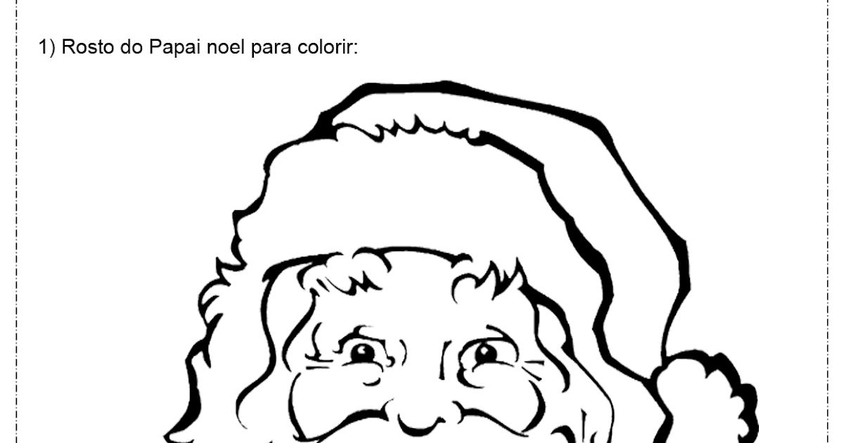 Fresco Desenhos Para Colorir Do Papai Noel Grande