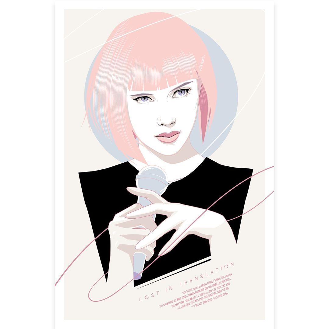 DCon 2018 Exclusive Lost In Translation Movie Poster Screen Print by Craig  Drake x Spoke Art 4dc42dc13da8