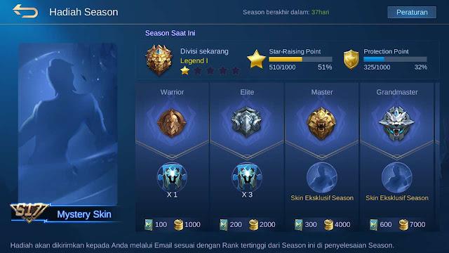Skin ML gratis permanen - hadiah season