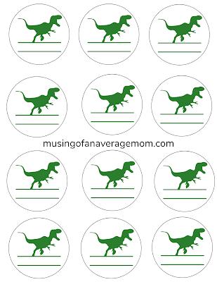 dinosaur label