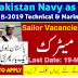 Join Pak Navy as Sailor May 2019 : Latest Technical and Marine Branch Navy Vacancies