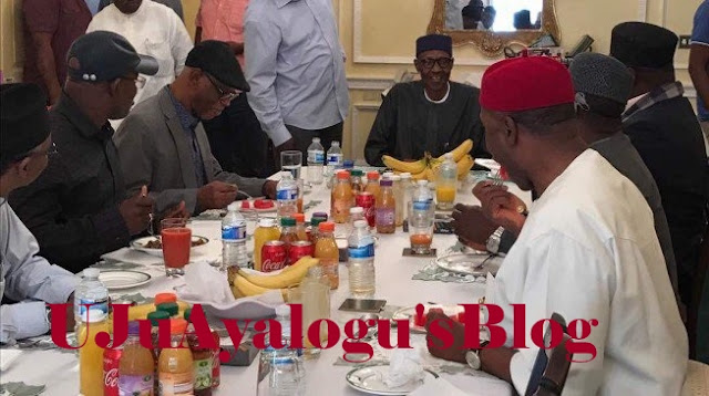 Buhari meets APC govs in London, laughs over negative reports —Presidency
