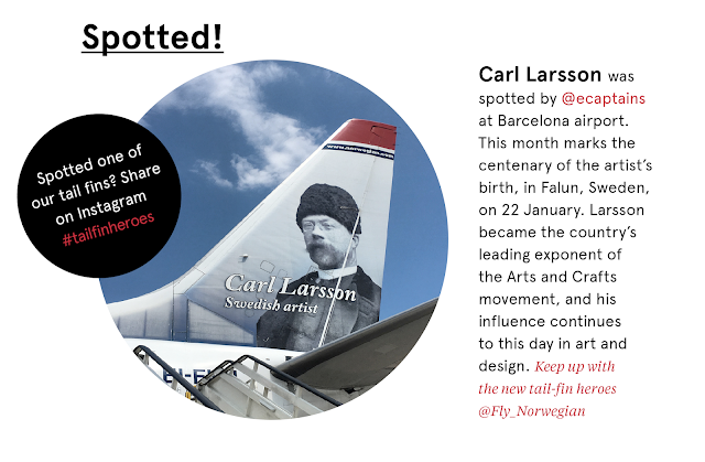 Spotted! Carl Larsson was spotted by @ecaptains at Barcelona airport.