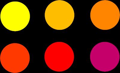 Expresi n digital 2016 colores c lidos andrea talavera - Todos los colores calidos ...