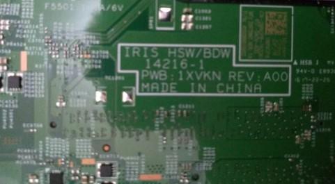 14216-1 IRIS HSW - BDM PWB 1XVKN REV A00 Dell Inspiron 15-3558 Bios
