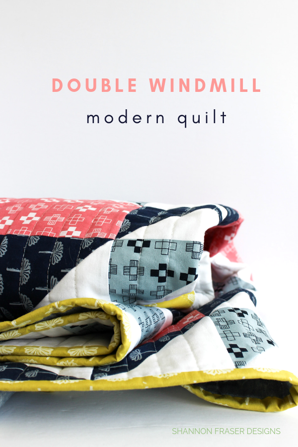 Close up of binding | Double Windmill Quilt pattern | Shannon Fraser Designs #binding #quilts #quilting