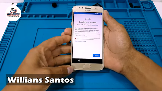 Aprenda como Remover a Conta Google Motorola Moto G5S sem usar PC.