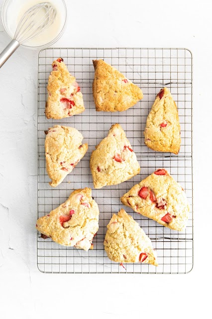 Scones on a wire rack