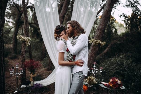 Primer beso como marido y mujer