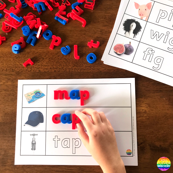 Word Family CVC Word Mats | you clever monkey
