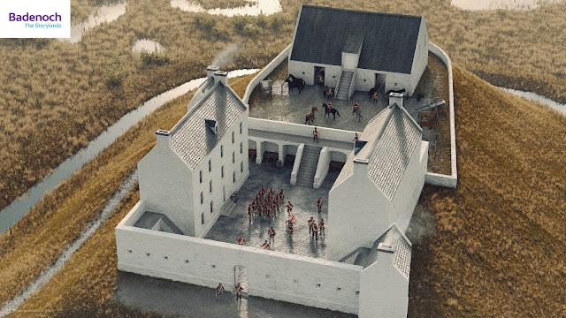Digital reconstruction of Ruthven Barracks (Bob Marshall)