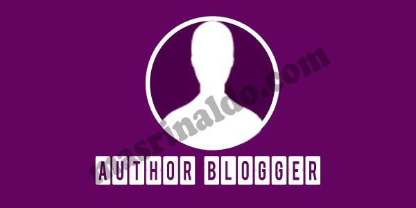 Artikel yang di posting terbaru dari Mas Rinaldo Mengenai Tutorial Mengganti Nama Author di Blog,yang dapat Merubah nama Penulis dan Pengarang di Blog Terbaru 2019
