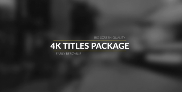 Videohive 4k Broadcast Titles Package | AE Templates