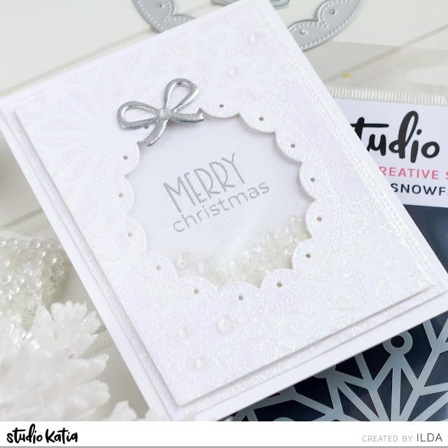 CAS Snowflake Stencil Cards | Studio Katia by ilovedoingallthingscrafty.com