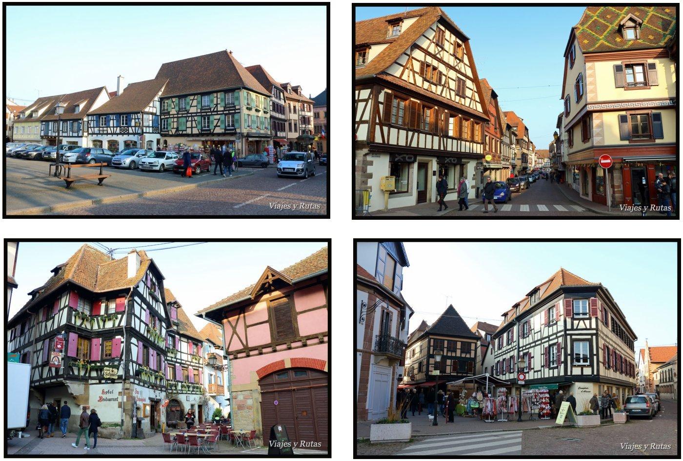 Casas típicas de Obernai, Alsacia