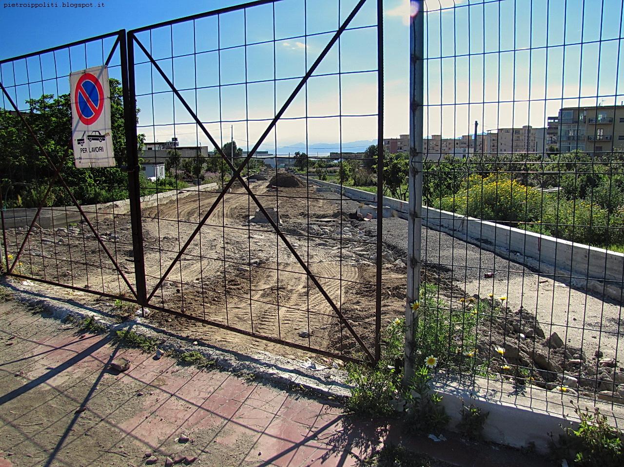 Pista ciclabile di RC, strada in costruzione