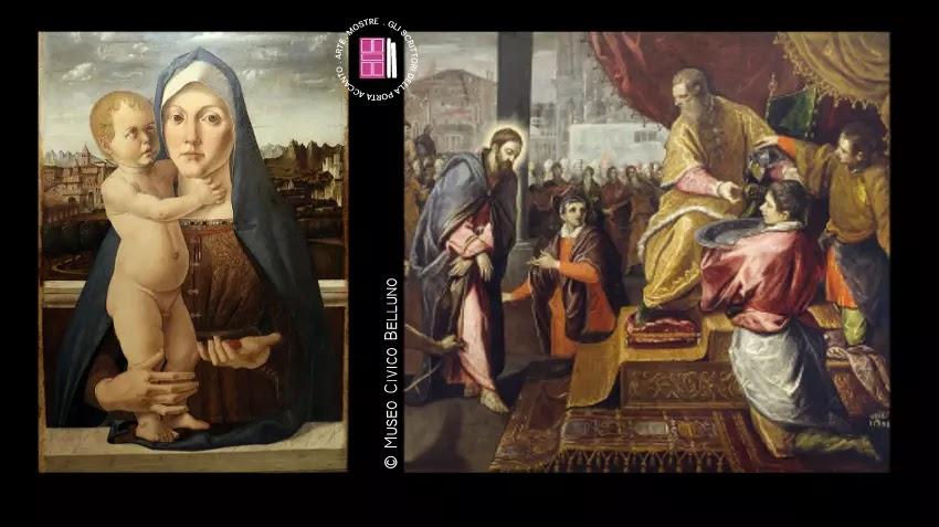 Madonna con il Bambino di Bartolomeo Cincani e Cristo davanti a Pilato di Domenico Tintoretto