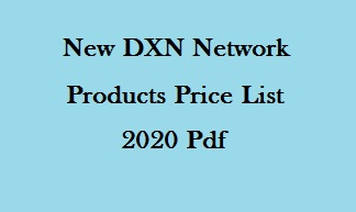 DXN Network Products Price List