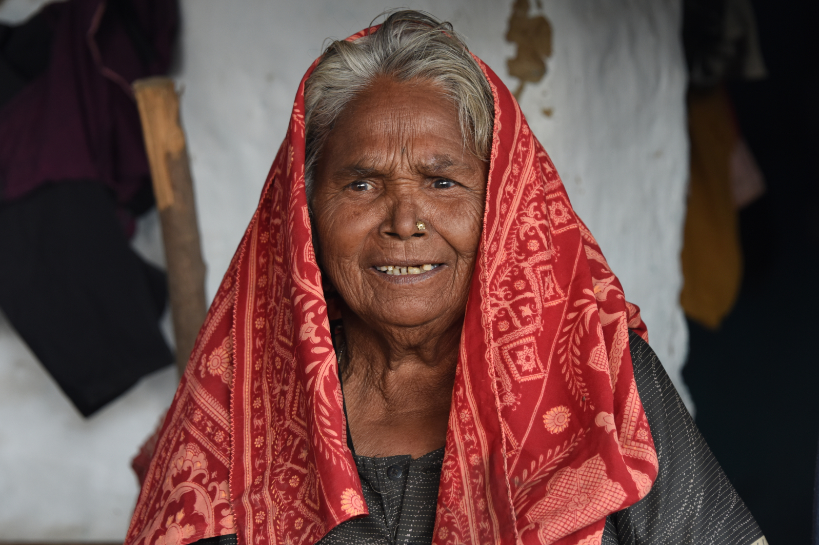 An Indian old woman