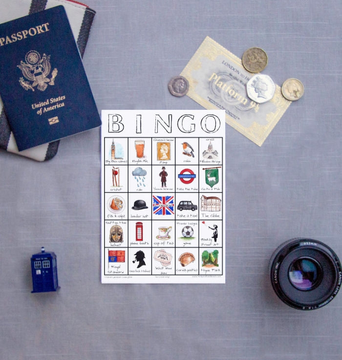 15+ Of The Best Traveler Gift Ideas Besides Actual Plane Tickets - City Places To See Bingo Card