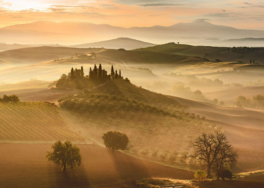 These Are The 35 Best Pictures Of 2016 National Geographic Traveler Photo Contest - Golden Sunrise, Tuscany, Italy