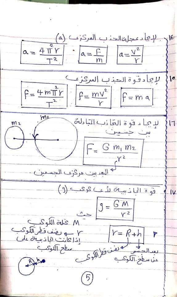 مراجعة كل قوانين الفيزياء اولي ثانوي في ٦ ورقات أ/ امانى منصور 5