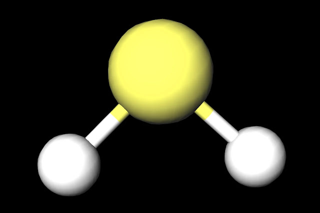 H2S Ball and Stick Diagram