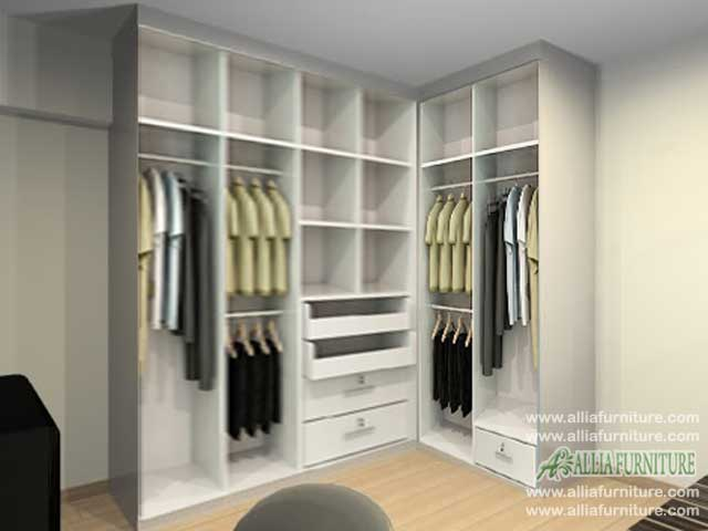 dalam lemari baju minimalis model sudut tea