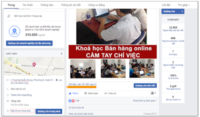 Khóa học Facebook Marketing tại MOA