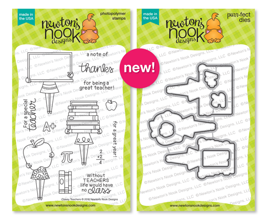 Classy Teachers Stamp and Die Sets by Newton's Nook Designs #newtonsnook