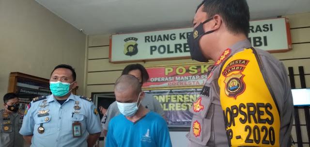 Acong Narapidana yang Kabur Ditangkap Polresta Jambi