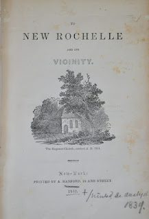 A Guide to New Rochelle and Vicinity by Robert Bolton / 1842